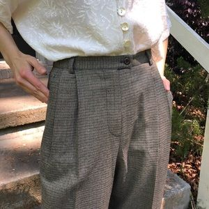 SOLD Vintage checked plaid trousers